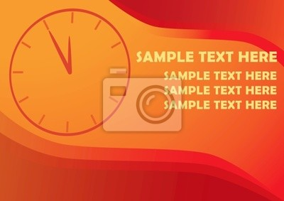 Vector background with clocks and copy space