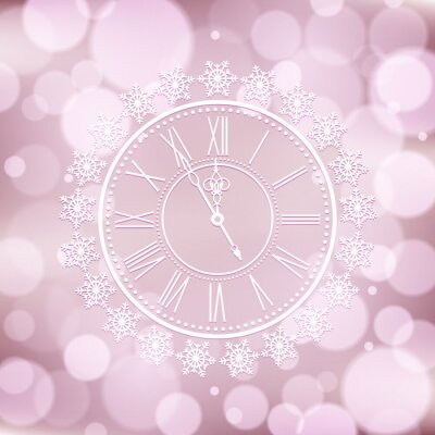 vector background with elegant clock
