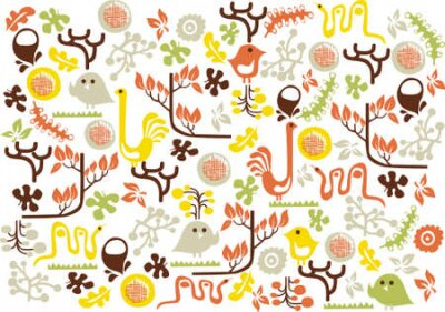 vector - background with graphic animals