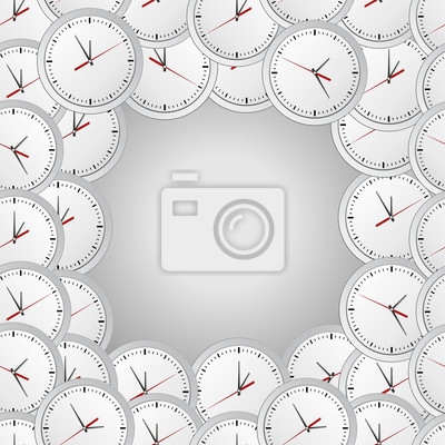 Vector background with wall clocks