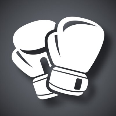 Wall mural Vector boxing gloves icon