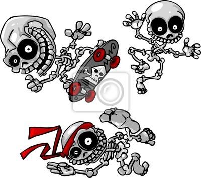 vector cartoon skeletons