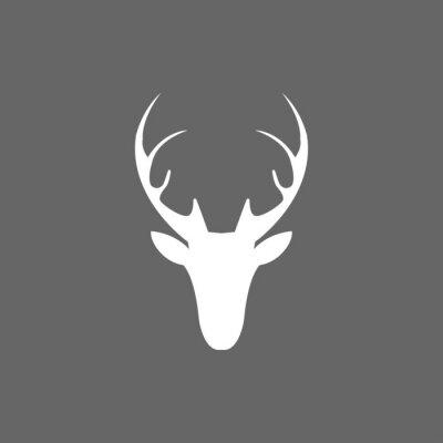 Wall mural Vector christmas deer head icon