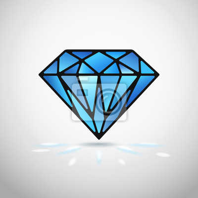 Wall mural vector diamond