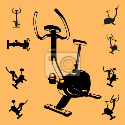 Wall mural vector fitness equipment
