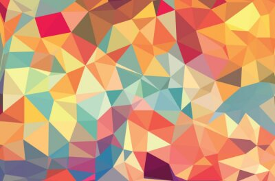 Wall mural Vector geometric shapes. Colorful background. Texture for use in