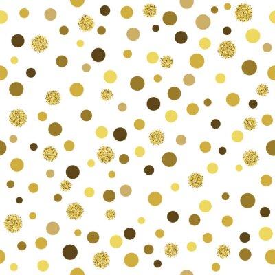 Wall mural Vector gold glitter seamless pattern
