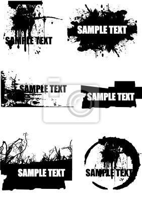 Wall mural vector grunge background elements