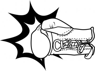 vector illustration of a boxing glove