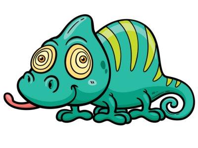 Wall mural Vector illustration of Cartoon Chameleon