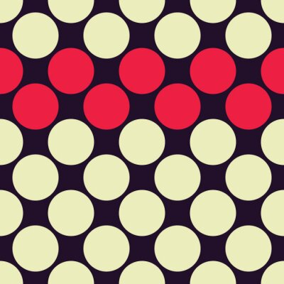 Wall mural Vector modern seamless colorful geometry dots pattern, color abstract geometric background, pillow multicolored print, retro texture, hipster fashion design