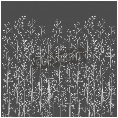 Wall mural vector nature herb