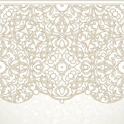 Wall mural Vector ornate seamless border in Eastern style.