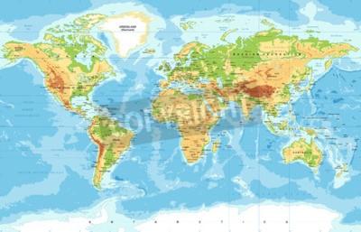 Wall mural Vector Physical World Map