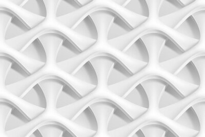 Wall mural Vector seamless abstract geometric 3d waves pattern
