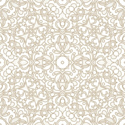 Wall mural Vector seamless pattern in Eastern style.