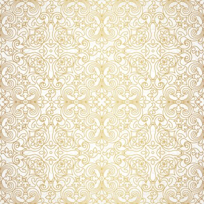 Wall mural Vector seamless pattern in Victorian style.