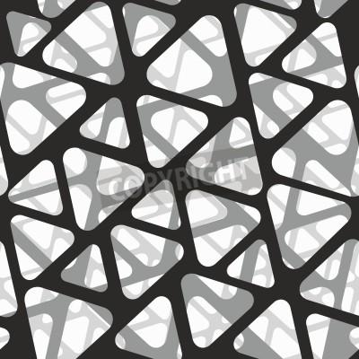 Wall mural Vector seamless pattern. Modern stylish 3d texture of mesh.