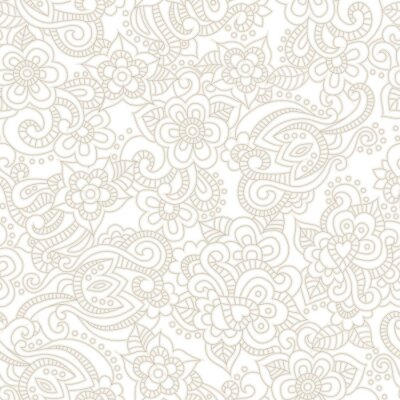 Wall mural Vector seamless pattern with romantic floral background