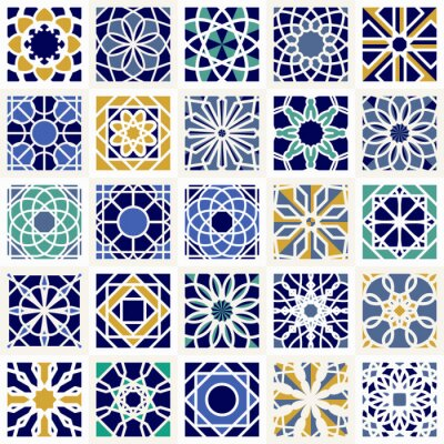 Wall mural Vector Set of Geometric Patterns