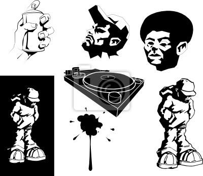 vector urban motifs/ stencils.