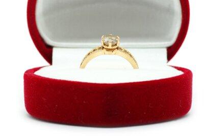 velvet box with  ring