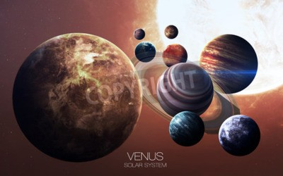 Wall mural Venus - High resolution images presents planets of the solar system.