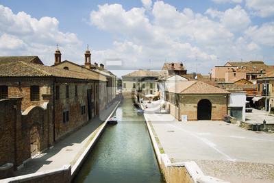 View of Comacchio, Ferrara, Italy
