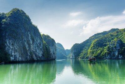 Wall mural View of lagoon in the Ha Long Bay, the South China Sea, Vietnam