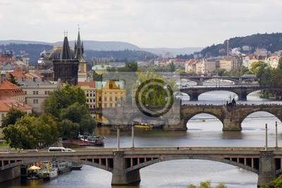 view of Prague's bridges
