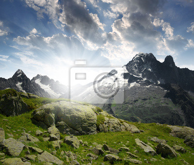 View of the Savoy Alps-Europe