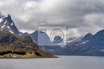 View with mountains and the sea, Norway