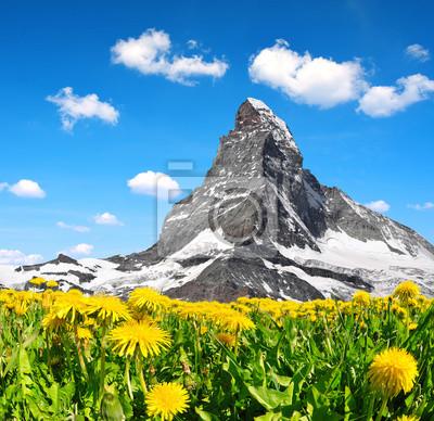Views of the mountain Matterhorn in Pennine Alps, Switzerland