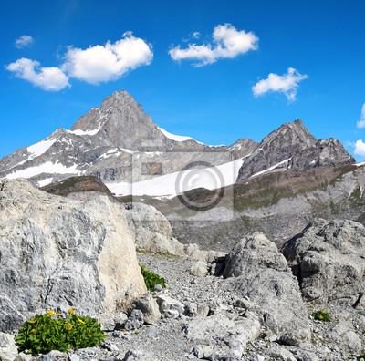 Views of the mountain Zinalrothorn in Pennine Alps, Switzerland