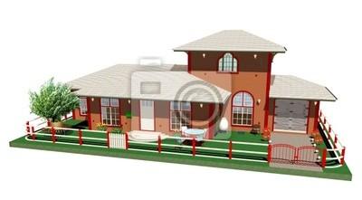 Villa con Giardino e Garage-Residence with Garden-3d
