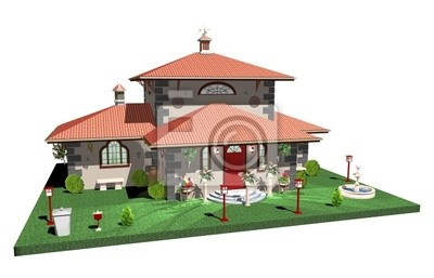 Villa di Lusso con Parco-Residence with Park-3D