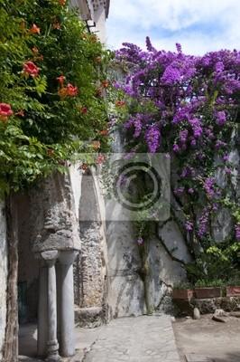 Villa Rufolo at Ravello above Amalfi  in Southern Italy.