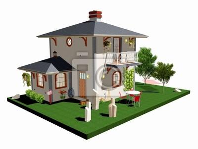 Villa Villetta con Amaca-House With Plants and hammock-3d-2