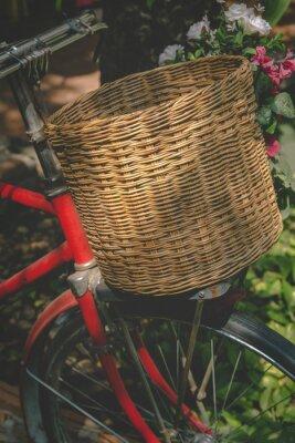 Wall mural Vintage Bicycle with Basket