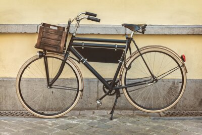 Wall mural Vintage bicycle with wooden crate