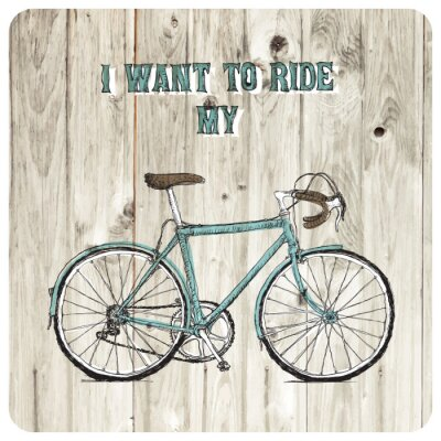 Wall mural Vintage bycicle hand drawn poster