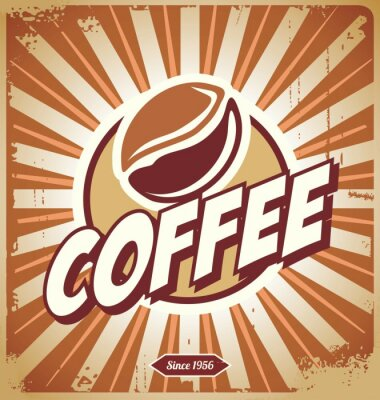 Wall mural Vintage Coffee Sign