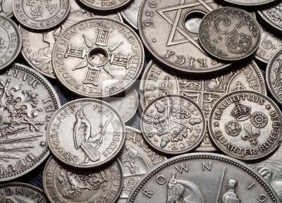 vintage coins background