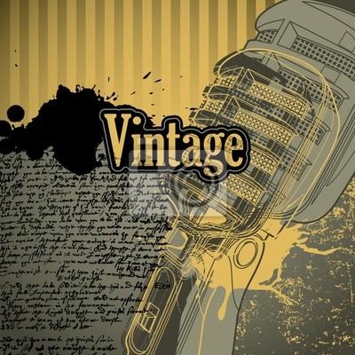 Vintage conceptual background with designed elements.