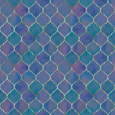 Wall mural Vintage decorative grunge indian, moroccan seamless pattern