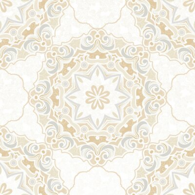 Wall mural Vintage element for design in Eastern style.