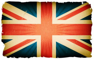 Wall mural Vintage English Flag Poster Background