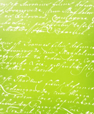 Wall mural vintage handwritten letter