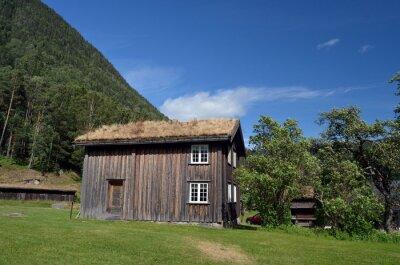 Vintage historical buildings.Telemark. Norway
