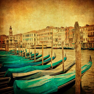 Wall mural Vintage image of Grand Canal, Venice